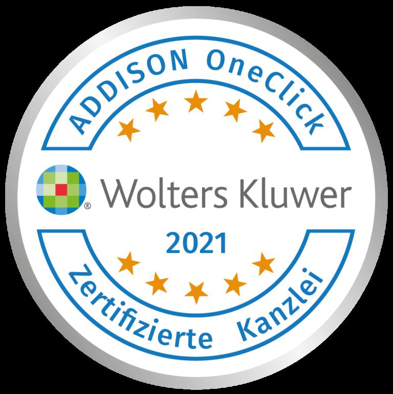 Zertifizierung Kanzlei ADDISON OneClick